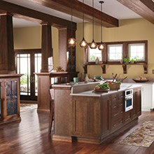 Harmony kitchen that transitions into the living space