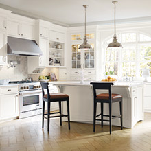 Prescott white kitchen cabinets