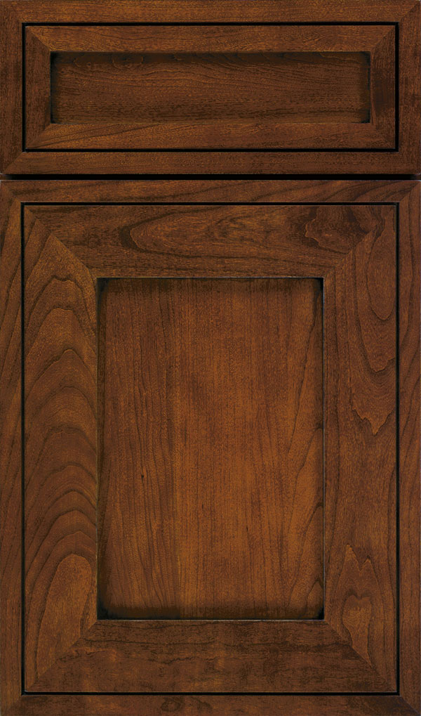 Airedale 5-Piece Cherry Shaker Style Cabinet Door in Arlington with Espresso glaze