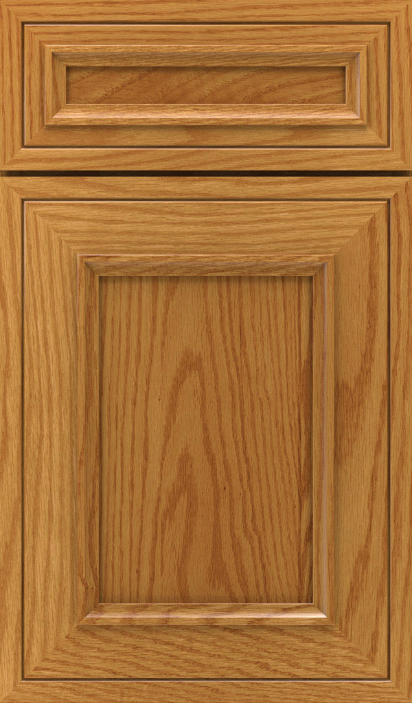 Altmann 5-piece Oak recessed panel cabinet door in Pheasant