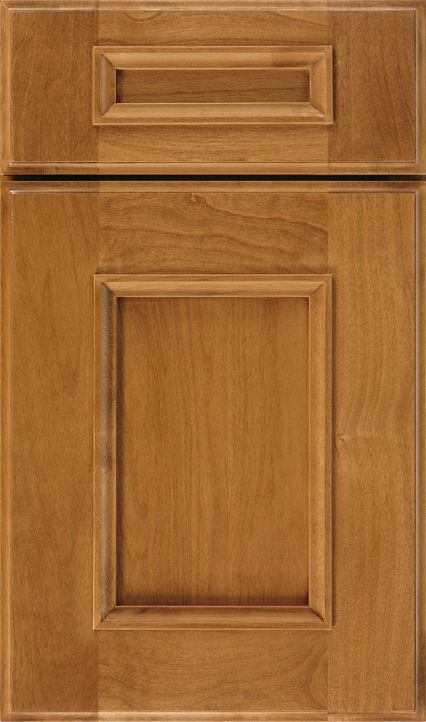 Atwater 5-Piece Alder flat panel cabinet door in Wheatfield