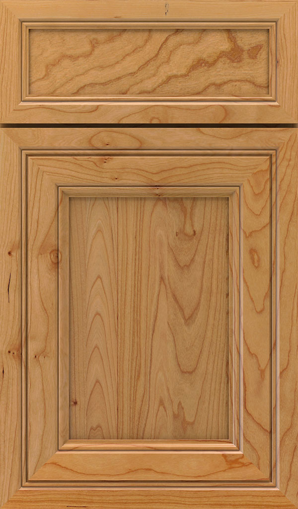 Braydon Manor 5-Piece Cherry Flat Panel Cabinet Door in Natural