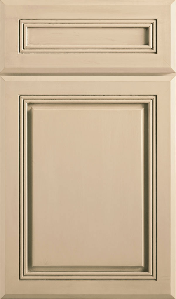 Cambridge 5-Piece Maple Raised Panel Cabinet Door in Irish Creme
