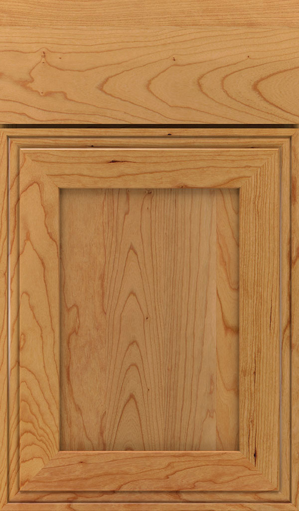 Daladier Cherry Recessed Panel Cabinet Door in Natural