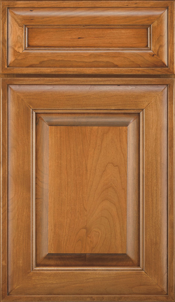 Davenport 5-Piece Cherry Raised Panel Cabinet Door in Coriander Coffee