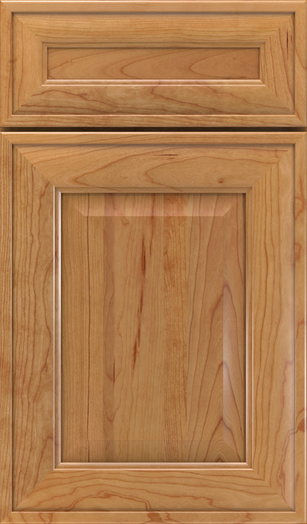 Davenport 5-Piece Cherry Raised Panel Cabinet Door in Natural
