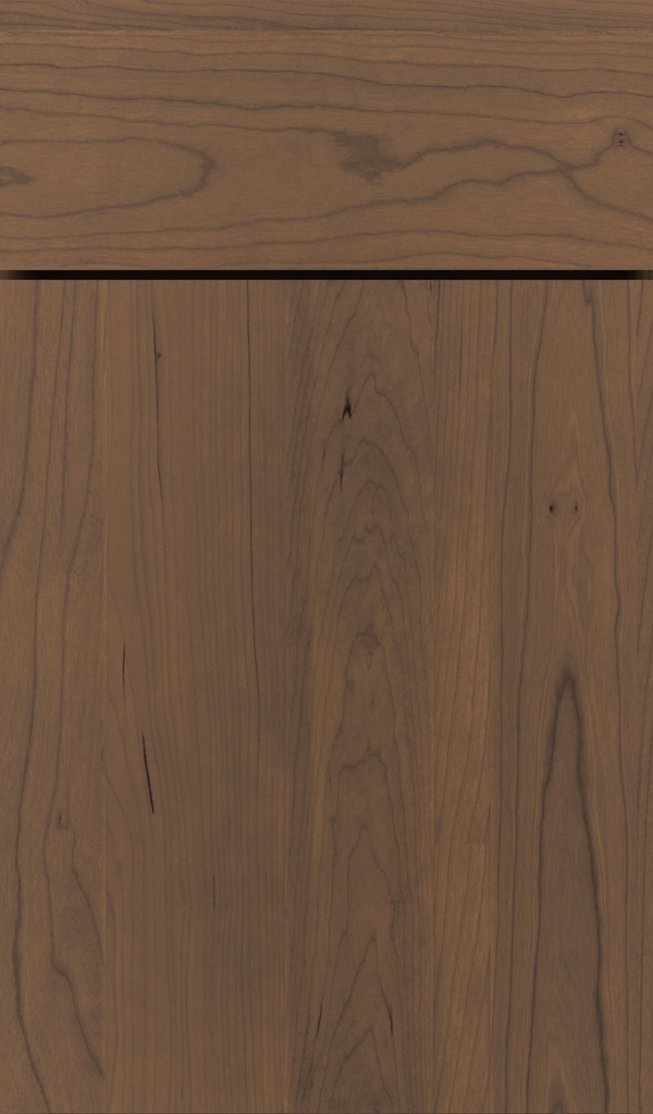 Della Cherry Slab Cabinet Door in Kindling