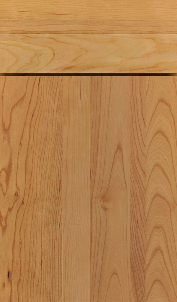 Della Cherry slab cabinet door in Natural