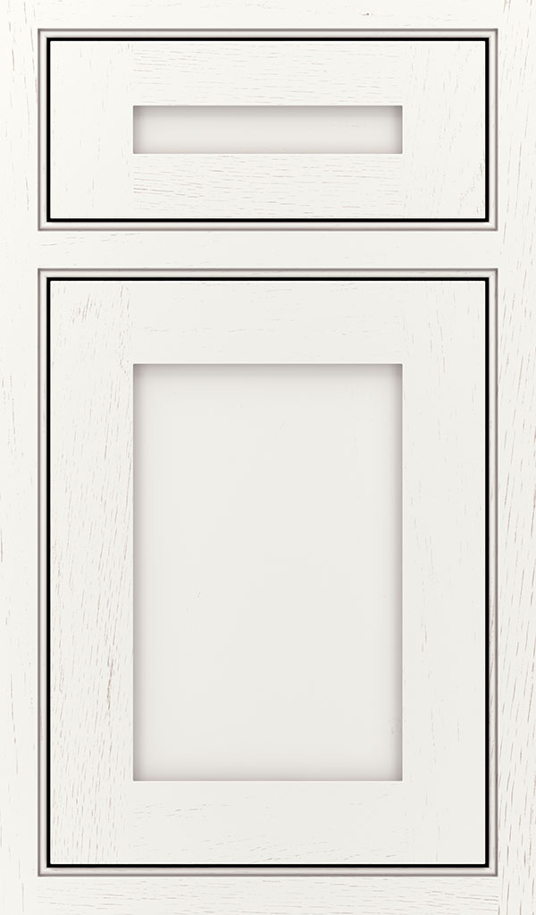 Harmony 5 Piece Oak Inset Cabinet Door in White