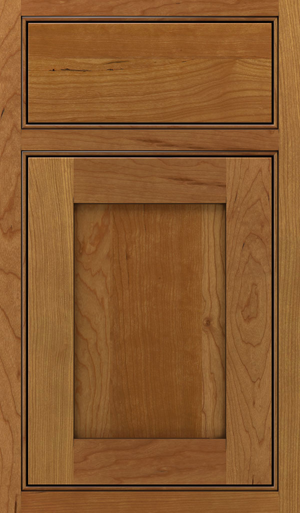 Harmony Cherry Inset Cabinet Door in Coriander Coffee