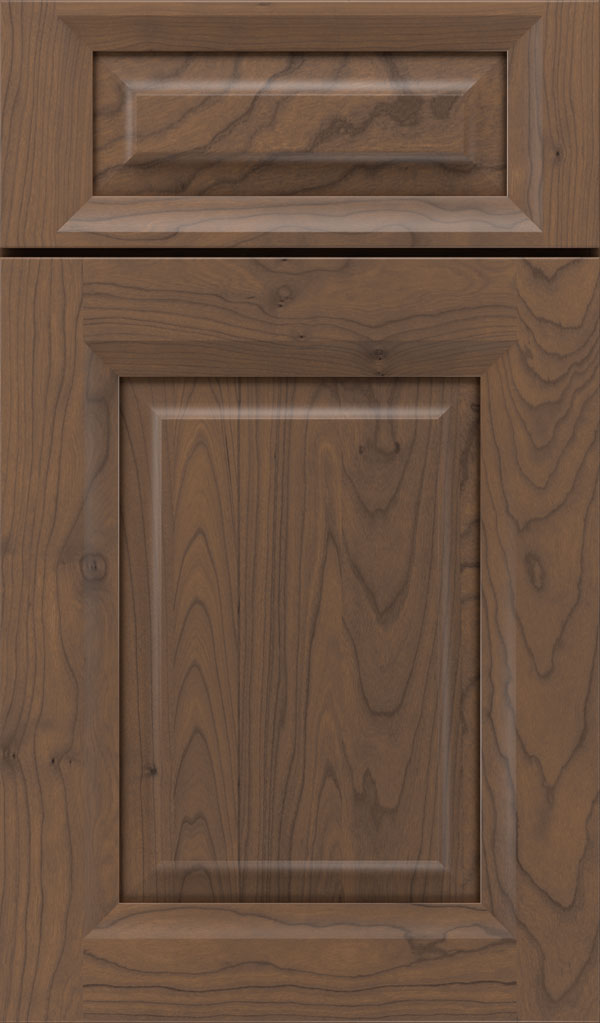 Hawthorne 5-piece Cherry raised panel cabinet door in Kindling