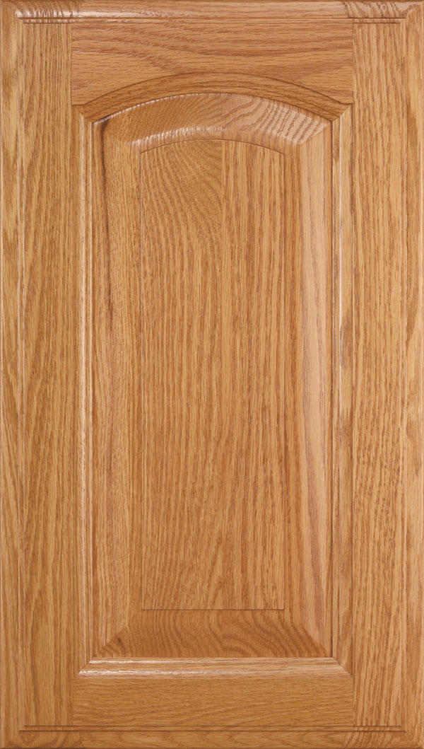 Kingston Oak arched Raised Panel Cabinet Door in Wheatfield