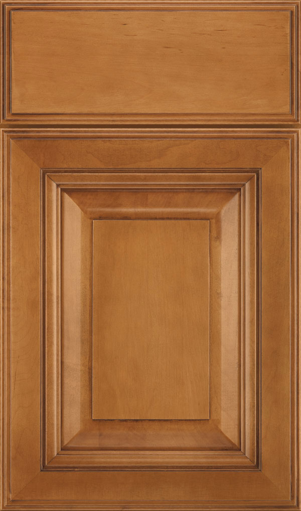 Lexington Maple Raised Panel Cabinet Door in Coriander Coffee