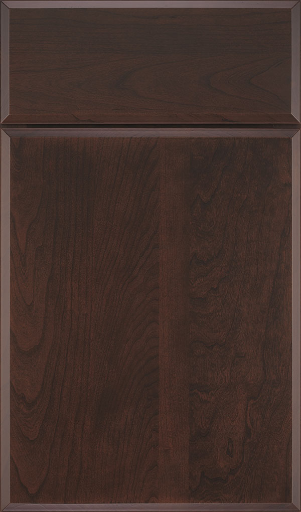 Marquis Cherry Slab Cabinet Door in Malbec