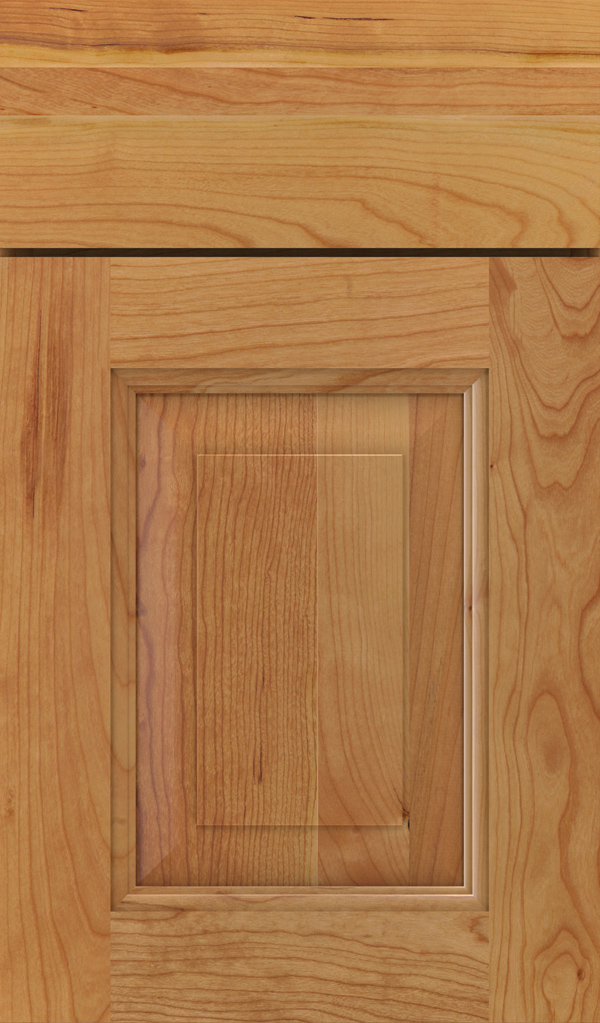 Maxwell Cherry Raised Panel Cabinet Door in Natural