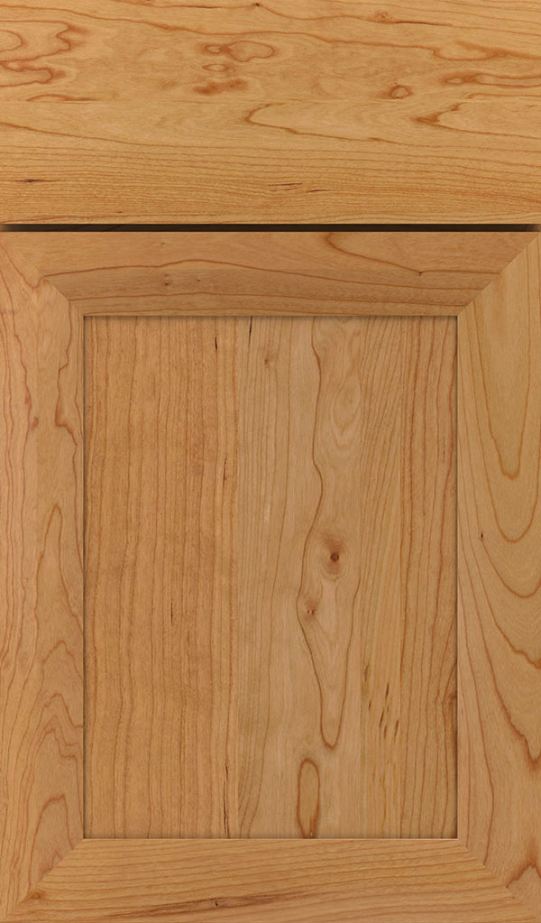 Modesto Cherry Recessed Panel Cabinet Door in Natural