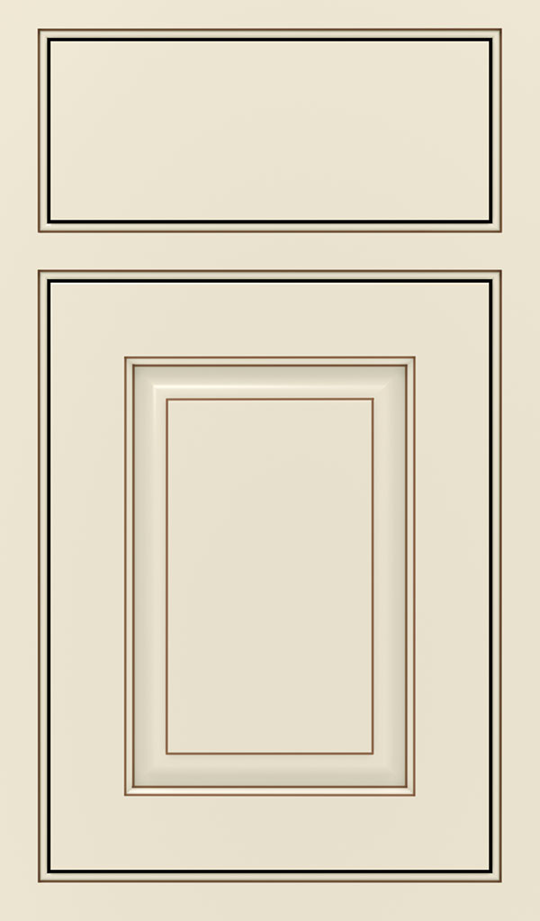 Plaza Maple Beaded Inset Cabient Door in Chantille Coffee