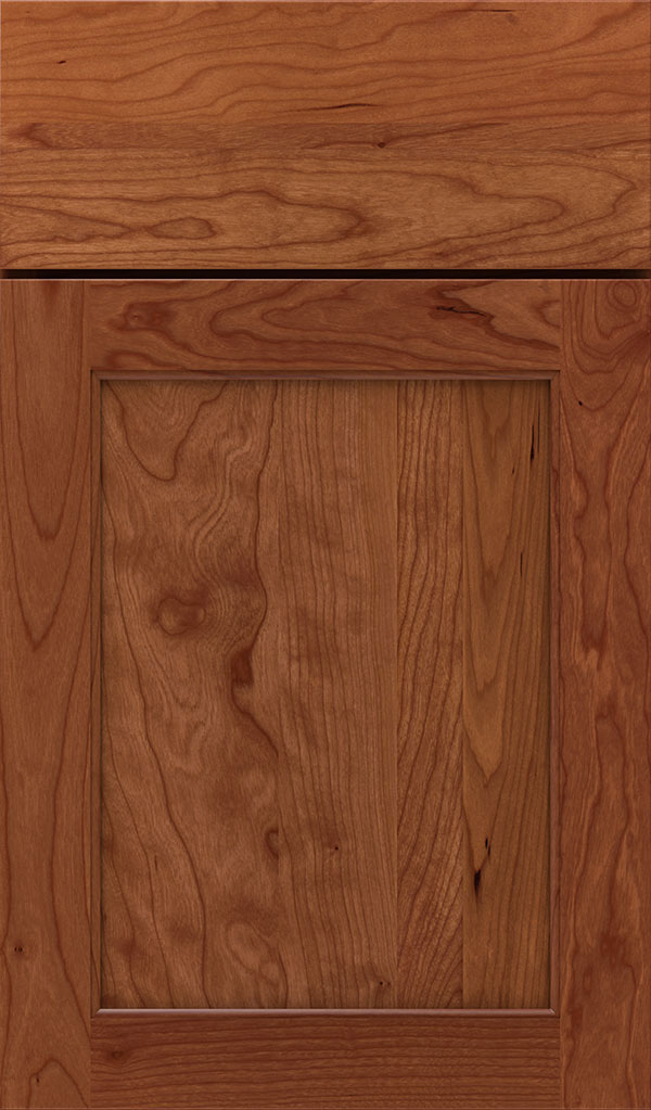 Prescott Cherry Flat Panel Cabinet Door in Brandywine