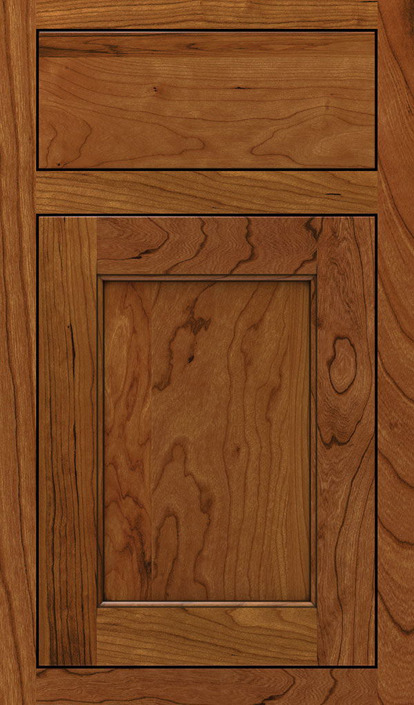 Prescott Cherry Inset Cabinet Door in Sienna Coffee