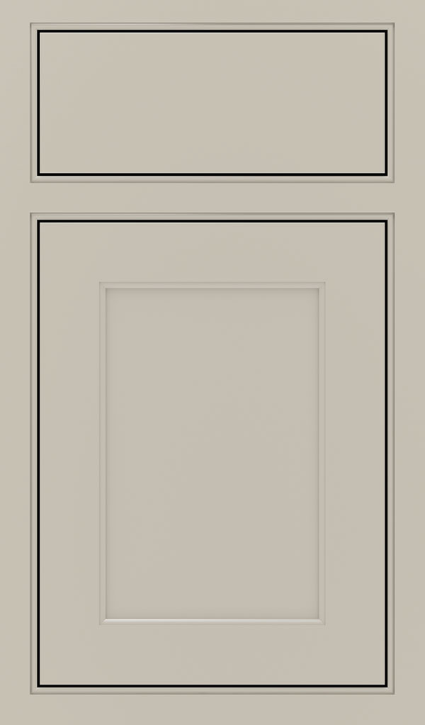 Prescott Maple Beaded Inset Cabinet Door in Mindful Gray