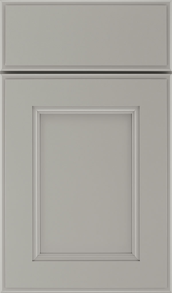 Roslyn Maple Shaker Style Cabinet Door in Stamped Concrete
