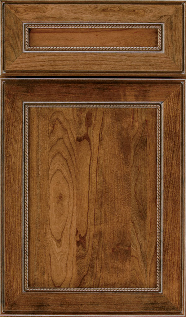 Savannah 5 Piece Cherry Flat Panel Cabinet Door in Mink