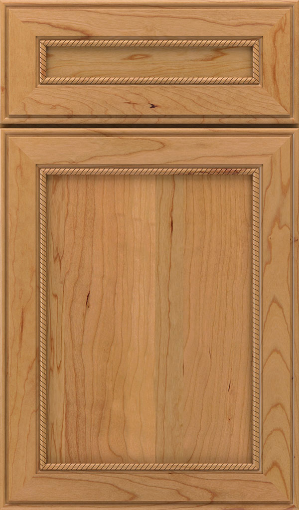 Savannah 5 Piece Cherry Flat Panel Cabinet Door in Natural
