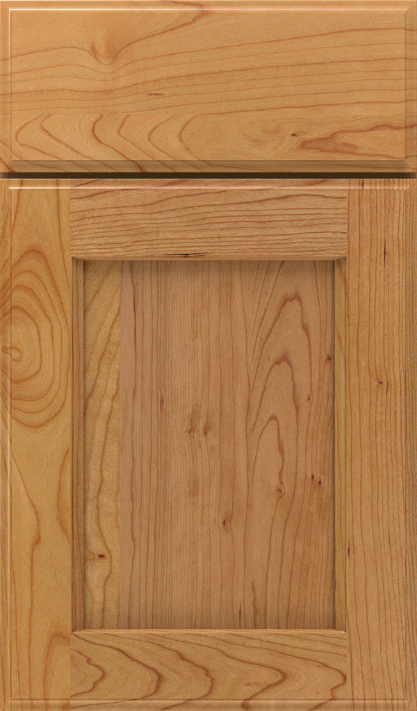 Treyburn Cherry recessed panel cabinet door in Natural