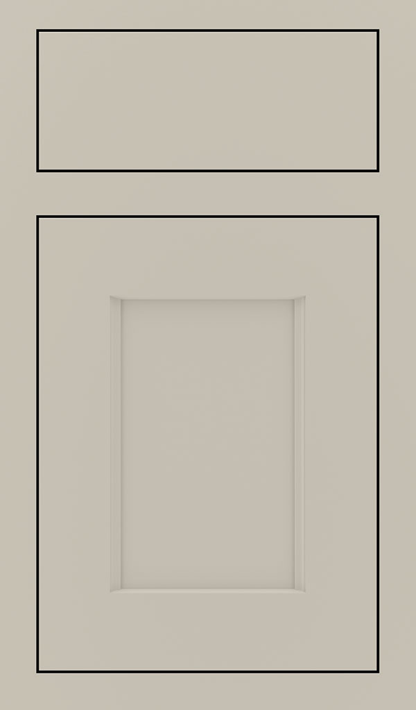 Treyburn Maple Inset Cabinet Door in Mindful Gray