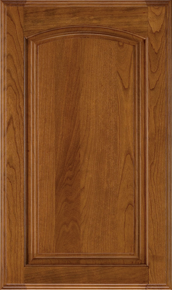 Verona Cherry Arched Raised Panel Cabinet Door in Pheasant