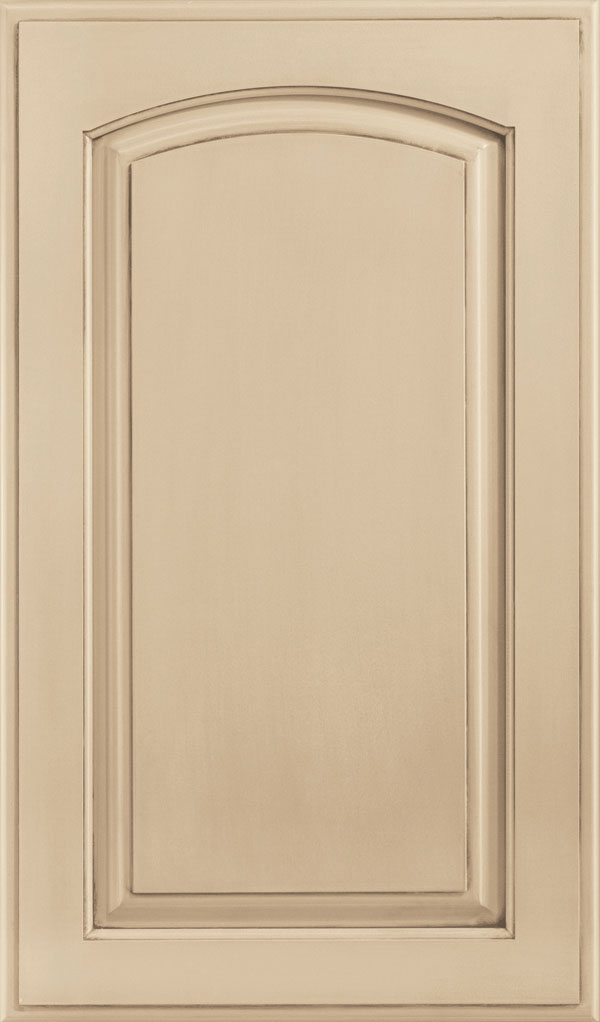 Verona Maple Arched Raised Panel Cabinet Door in Irish Creme
