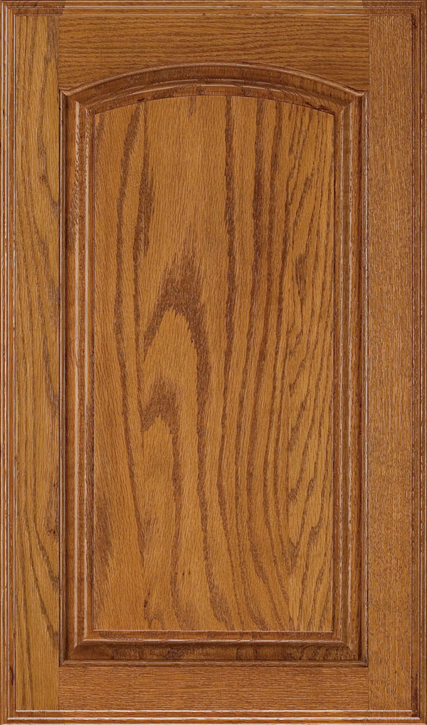 Verona Oak Arched Raised Panel Cabinet Door in Pheasant