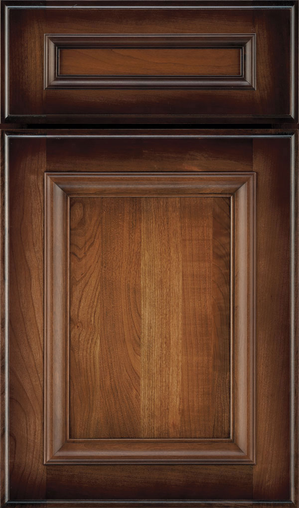 Yardley 5 Piece Cherry Raised Panel Cabinet Door in Amber Luminaire