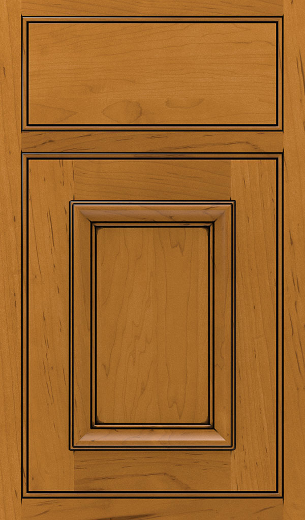 Yardley 5 Piece Maple Beaded Inset Cabinet Door in Natural Coffee