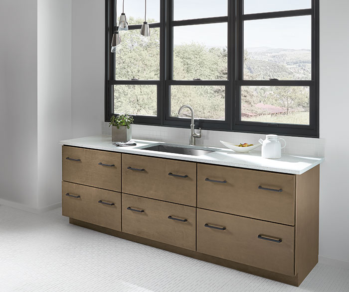 Contemporary Maple Bathroom Cabinets