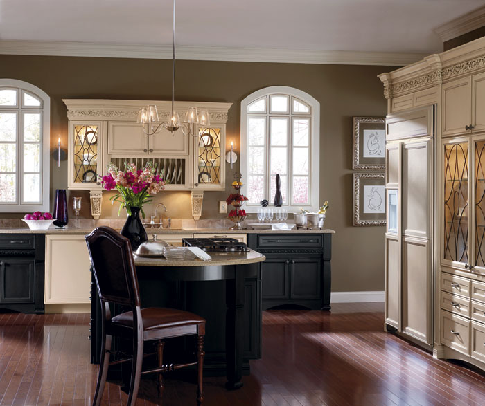 Painted Maple kitchen cabinets by Decora Cabinetry