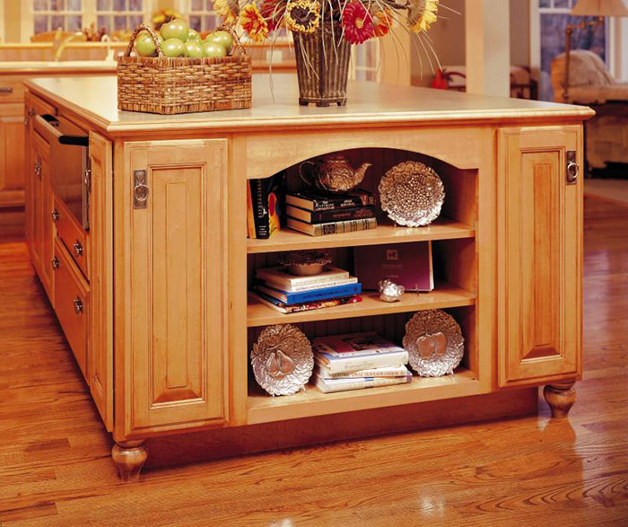 Natural Maple kitchen cabinets by Decora Cabinetry