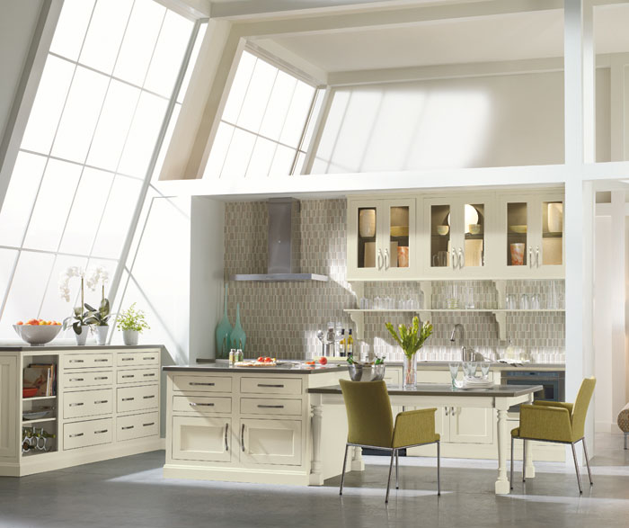 Contemporary kitchen with inset cabinets by Decora Cabinetry