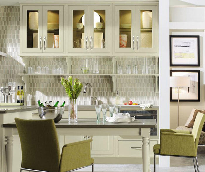 Contemporary Kitchen with Inset Cabinets